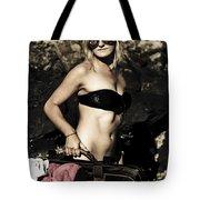 Grunge Babe On Holidays Tote Bag
