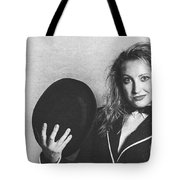 Grunge Photo Of Female Cabaret Performer Tote Bag