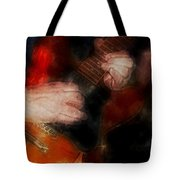 Guitar Traveling Pigments Tote Bag