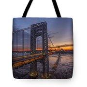 Gw Bridge Car Light Trails  Tote Bag