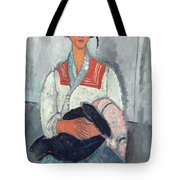 Gypsy Woman With Baby Tote Bag by Amedeo Modigliani