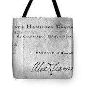 Hamilton: Appointment, 1777 Tote Bag