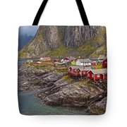 Hamnoy Rorbu Village Tote Bag