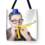 Handsome Business Man. Party For Many Year Service Tote Bag