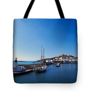 Harbor In Ibiza Town Tote Bag