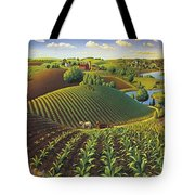 Harvest Panorama  Tote Bag by Robin Moline