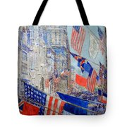 Hassam's Allies Day May 1917 -- The Avenue Of The Allies Tote Bag