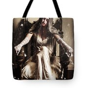 Haunting Horror Scene With A Strange Vampire Girl  Tote Bag