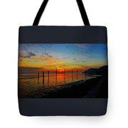 Haverstraw Bay Sunrise Tote Bag