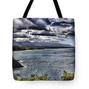 Hawaii Big Island Coastline V2 Tote Bag