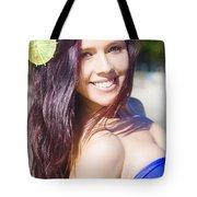 Hawaiian Girl In Hawaii Tote Bag