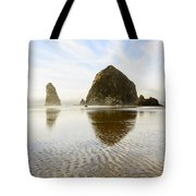 Haystack Rock At Cannon Beach Tote Bag