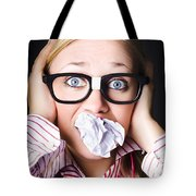 Hectic Business Person Under Stress Overload Tote Bag
