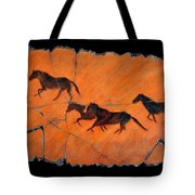 High Desert Horses Tote Bag