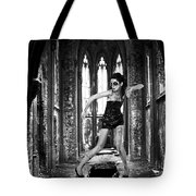 High Fashion Abandoned Church Tote Bag