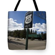 Historic Route Us 40 Sign Tote Bag