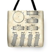 Hockey Puck Patent 1940 - Vintage Tote Bag