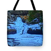 Hocking Hills State Park In Winter Tote Bag