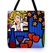 Homage To Lichtenstein Tote Bag