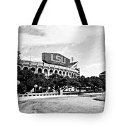 Home Field Advantage - Bw Texture Tote Bag