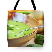 Homemade Potato And Spinach Soup Tote Bag