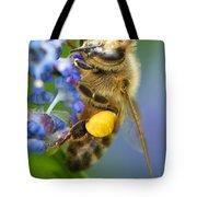 Honeybee On California Lilac Tote Bag