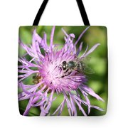 Honeybee On Ironweed Tote Bag