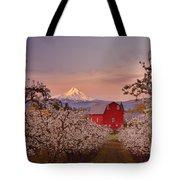 Hood River Sunrise Tote Bag by Darren  White