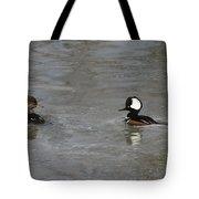 Hooded Merganser Pair Tote Bag