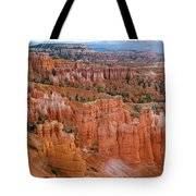 Hoodoo Rock Formations In A Canyon Tote Bag