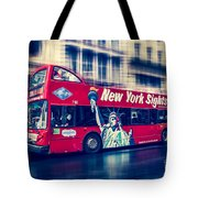 hop on hop off  through NYC Tote Bag