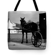 Horse And Buggy And Farm Tote Bag