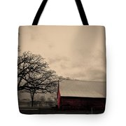 Horse Barn In Red  Tote Bag by Garren Zanker