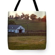 Horse Farm Sunset Tote Bag