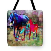 Horses Of Different Colors Tote Bag