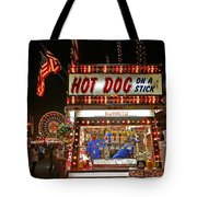 Hot Dog On A Stick Tote Bag