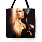 Hot Shot Woman Tote Bag