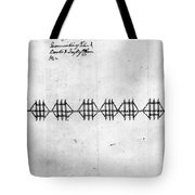 Hudson River: Chain, C1778 Tote Bag
