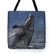 Humpback Whale Breaching Prince William Tote Bag