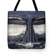 Humpback Whale Fluke Tote Bag