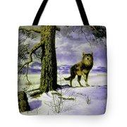 Hunting Wolf Tote Bag