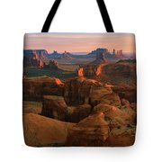 Hunts Mesa In Monument Valley Tote Bag