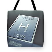 Hydrogen Chemical Element Tote Bag