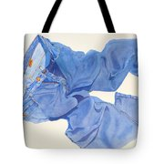 Watercolor   I Love My Jeans  Tote Bag