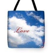 1 I Love You Heart Cloud Tote Bag