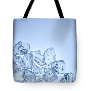 Ice Background With Copyspace Tote Bag