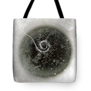 Ice Fishing Hole Tote Bag
