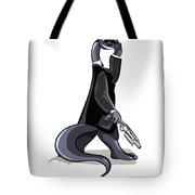 Illustration Of A Brontosaurus Dressed Tote Bag