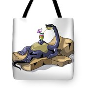Illustration Of A Brontosaurus Tote Bag by Stocktrek Images