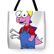 Illustration Of A Stegosaurus Tote Bag